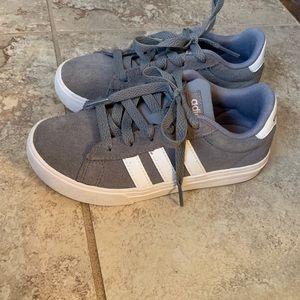 Adidas gray sneakers kids